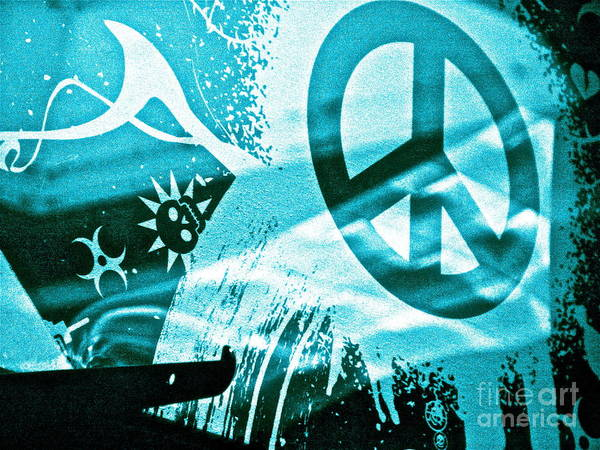 Peace Symbol Poster featuring the photograph Give Peace A Shirt by Chuck Taylor