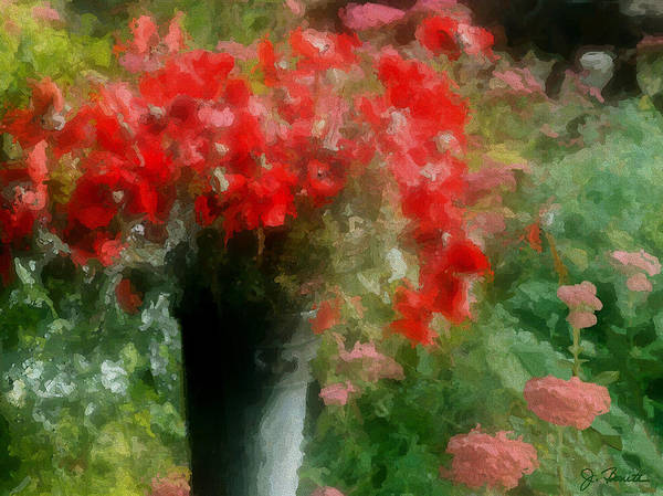 Giverny Poster featuring the photograph Giverny Poppies by Joe Bonita