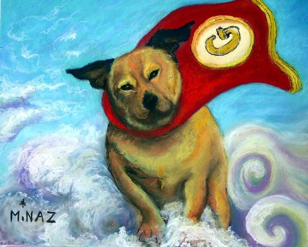 Dog Poster featuring the painting Gizmo The Great by Minaz Jantz