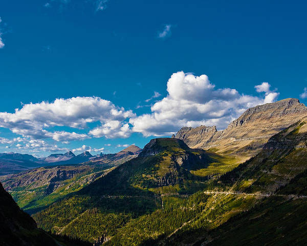 Landscape Poster featuring the photograph Glacier National Park by Jon Woodbury