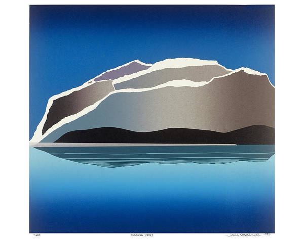 Landscape Poster featuring the mixed media Glaciers by Jarle Rosseland