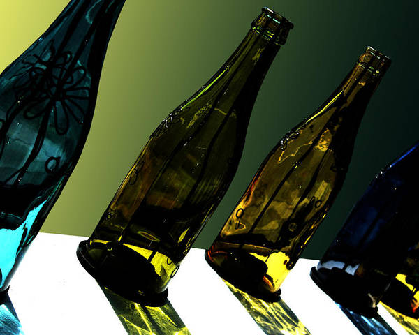 Bottle Poster featuring the photograph Glassworks by Barbara White