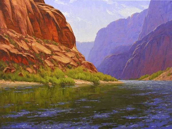 Cody Delong Poster featuring the painting Glen Canyon Morning by Cody DeLong