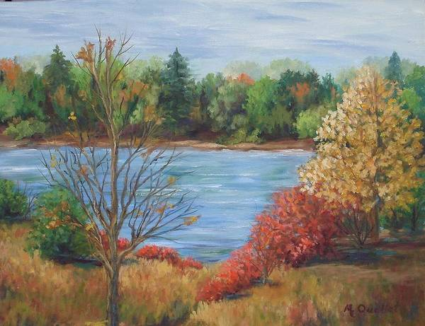 Landscape Poster featuring the painting Glenmore Park by Maxine Ouellet