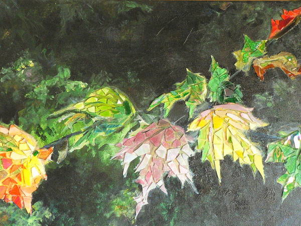Acrylic Poster featuring the painting Glistening Fall by Cynthia Ann Swan