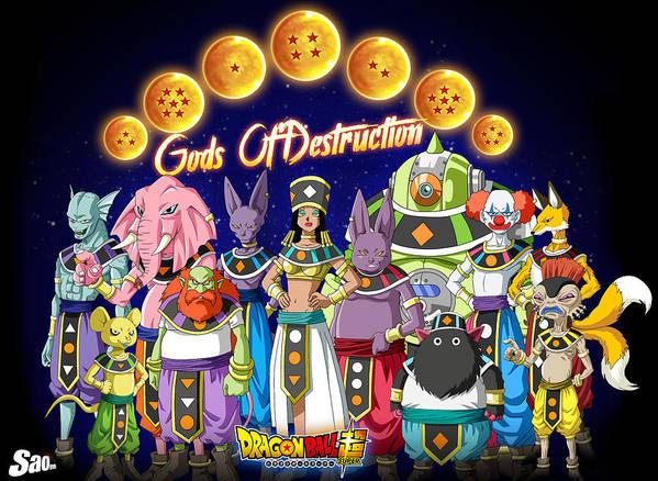 Goku New Form Poster featuring the digital art God Of Destruction by Babbal Kumar