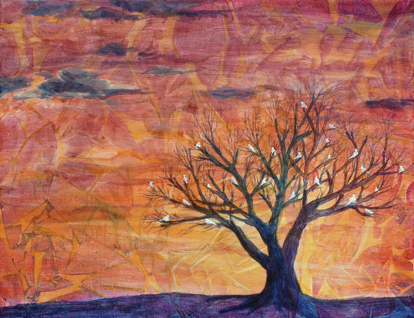 Tree Poster featuring the painting God's Family Tree by Arlissa Vaughn