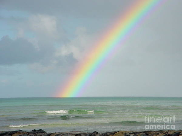 Rainbow Poster featuring the photograph Gods Smile by PJ Cloud