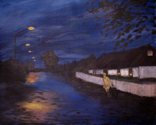 Art Nomad Poster featuring the painting Going Home by Art Nomad Sandra Hansen