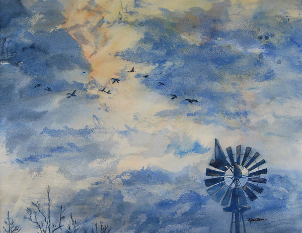 Landscape Poster featuring the painting Going Home by Kris Dixon