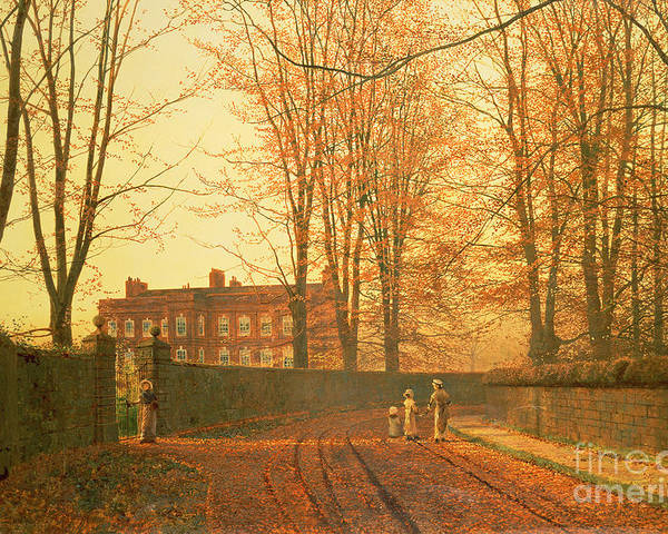 Going Poster featuring the painting Going To Church by John Atkinson Grimshaw
