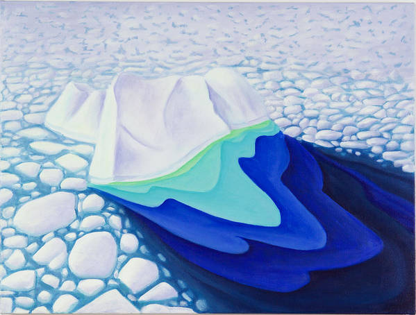 Arctic Poster featuring the painting Going With The Floe by Lynn Soehner