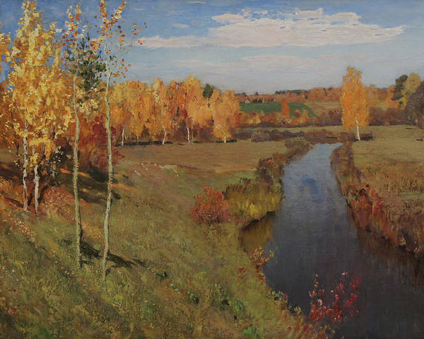 Isaac Levitan Poster featuring the painting Golden Autumn by Isaac Levitan