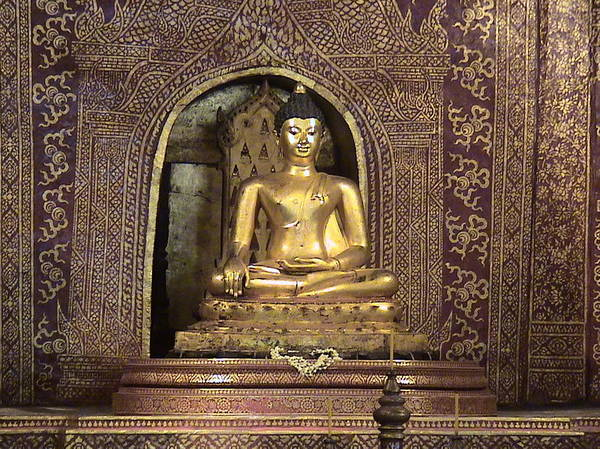 Religion Poster featuring the photograph Golden Buddha Of Chang Mai by William Thomas