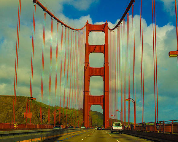 Goldengate Poster featuring the photograph Golden Gate Bridge by Brenda Mardinly