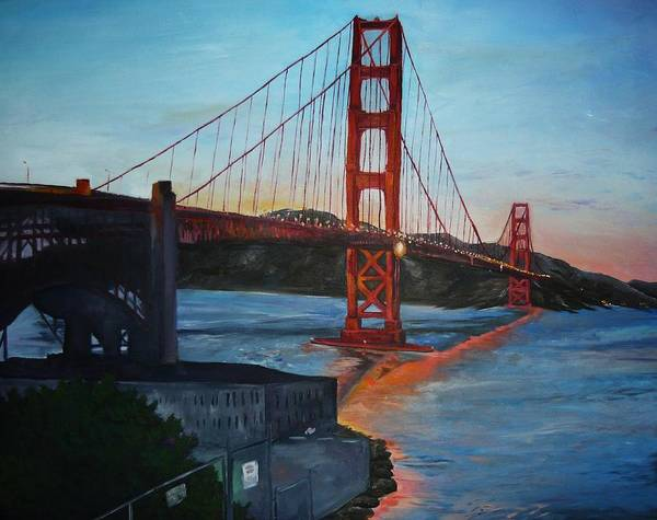 San Francisco Poster featuring the painting Golden Gate by Travis Day