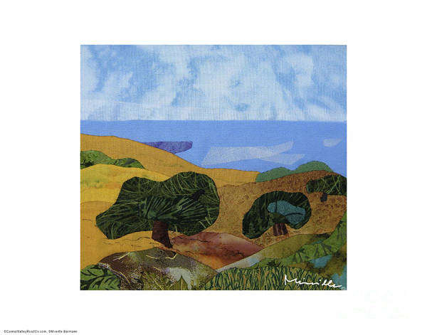 Golden Hills With Oaks Poster featuring the painting Golden Hills With Oaks by Mireille Barmann