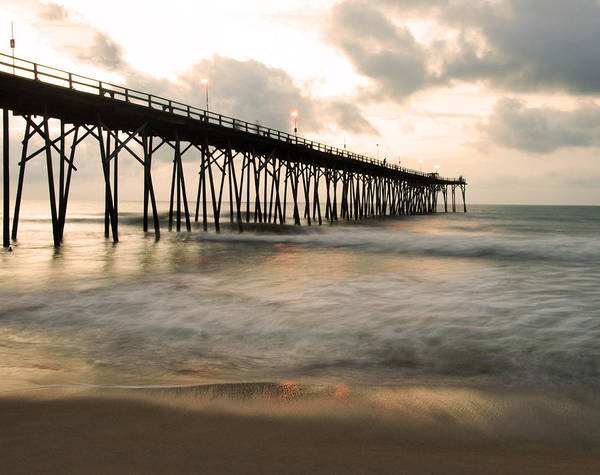 Pier Poster featuring the photograph Golden Morning by Paul Boroznoff