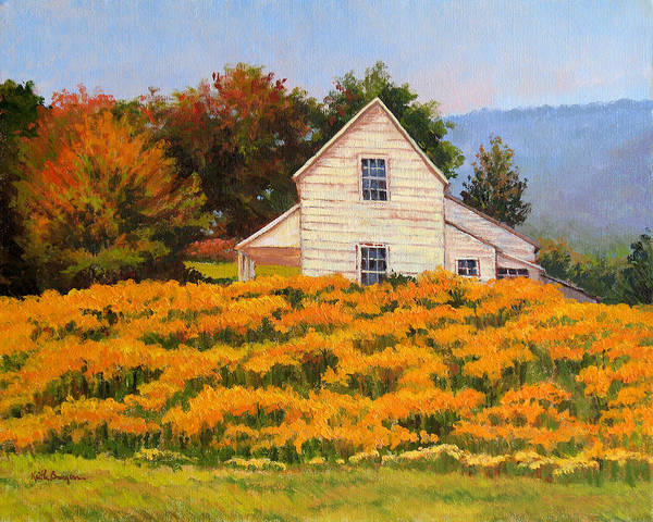 Impressionism Poster featuring the painting Goldenrod Time by Keith Burgess
