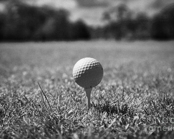 Golf Poster featuring the photograph Golf Ball On The Tee by Joe Fox