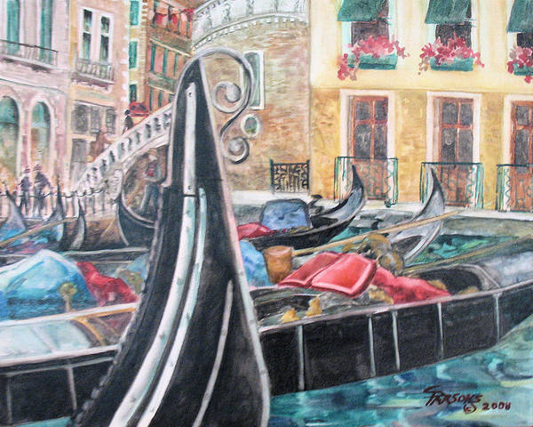 Parsons Poster featuring the painting Gondola Basin No. 2 by Sheila Parsons