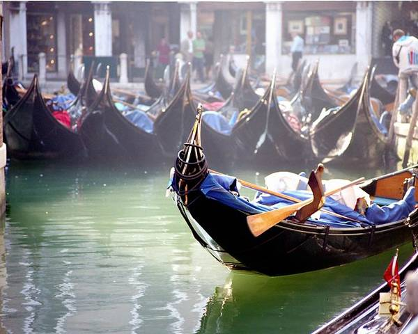 Venice Poster featuring the photograph Gondola In Venice In The Morning by Michael Henderson