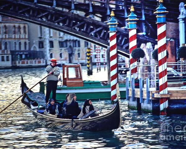 Venice Poster featuring the photograph Gondola In Venice On Grand Canal by Michael Henderson