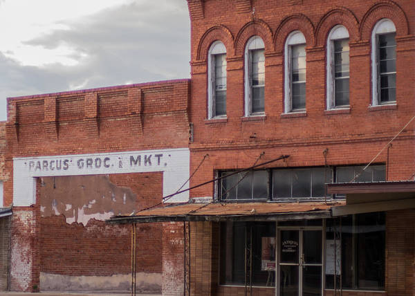 Vanishing Texas Poster featuring the photograph Gone Grocery 5 #vanishingtexas Street Scene Rosebud Texas by Trace Ready