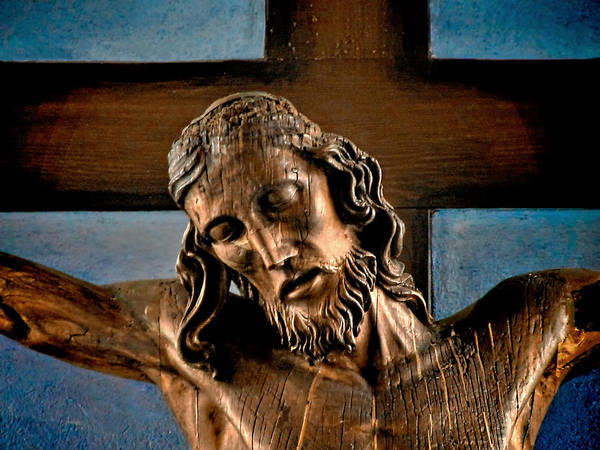 Easter Poster featuring the photograph Good Friday Jesus On The Cross by Christine Till