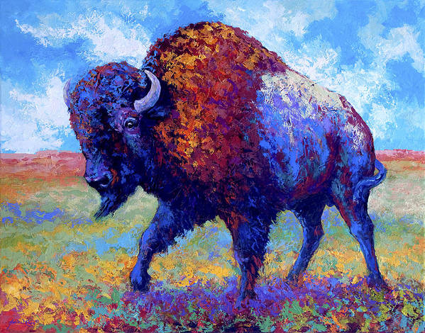 Bison Poster featuring the painting Good Medicine by Marion Rose