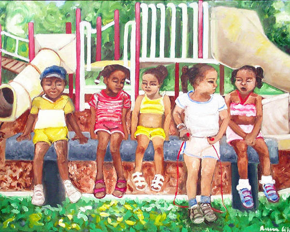Poster featuring the painting Good Times by Amira Najah Whitfield