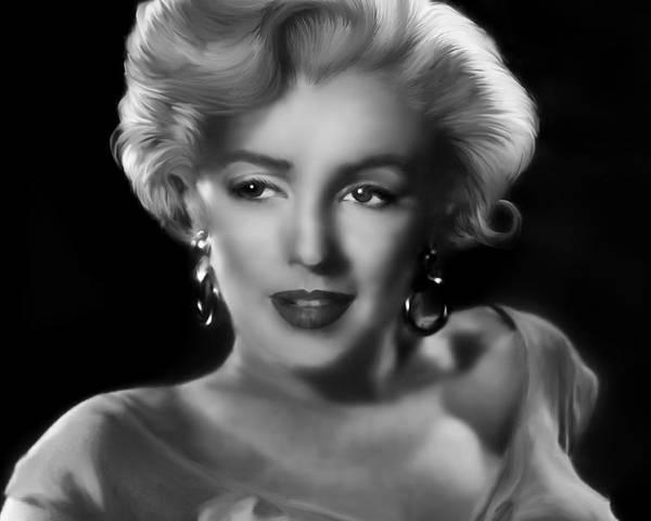 Marylin Monroe Poster featuring the digital art Goodbye Norma Jean by Julie L Hoddinott