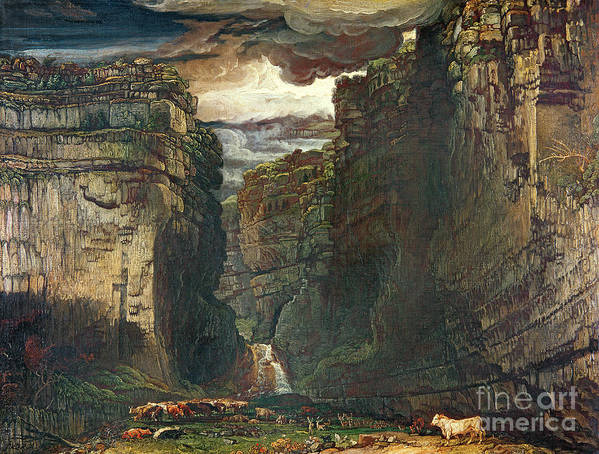 Yorkshire Poster featuring the painting Gordale Scar by James Ward