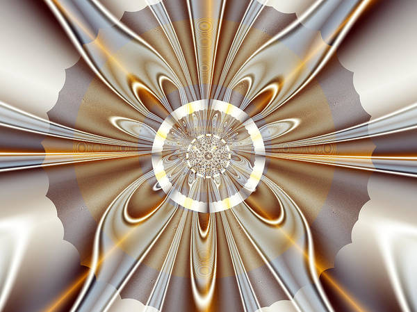 Fractal Poster featuring the digital art Gossamer by Vicky Brago-Mitchell