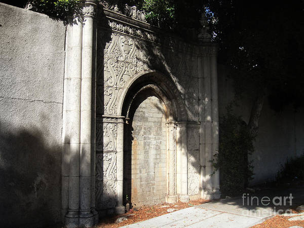 Gothic Poster featuring the photograph Gothic Darkness. Old Gate by Sofia Metal Queen