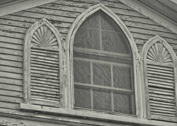 Nantucket Poster featuring the photograph Nantucket Gothic Window by JAMART Photography