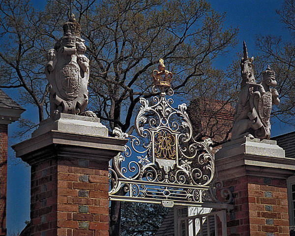 Williamsburg Poster featuring the photograph Governor's Palace Gate Detail by Frank Maxwell