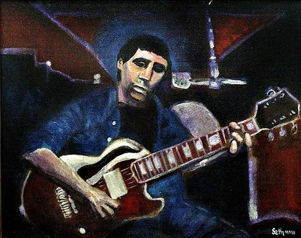 Shining Guitar Poster featuring the painting Graceland Tribute To Paul Simon by Seth Weaver