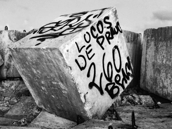 Cancun Poster featuring the photograph Graffiti Block by Anna Marie Jensen