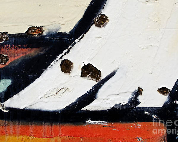 Abstract Poster featuring the photograph Graffiti Texture I by Ray Laskowitz - Printscapes