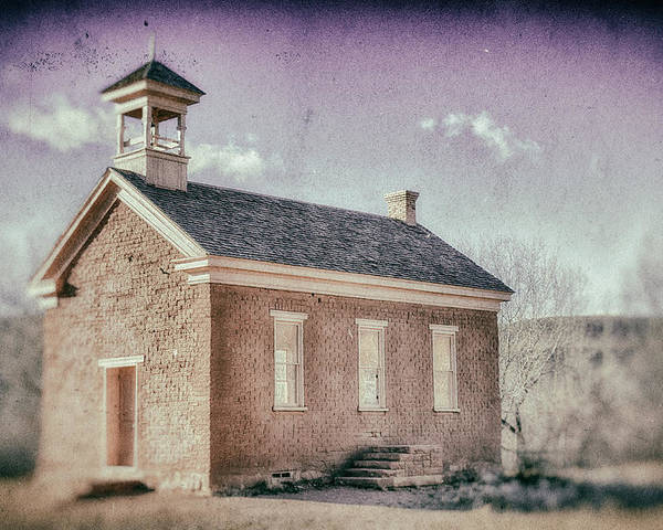 Grafton Utah Poster featuring the photograph Grafton Church Side Old Look by Mitch Johanson