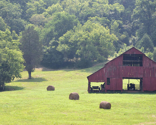 Landscapes Poster featuring the photograph Grampa's Summer Barn by Jan Amiss Photography