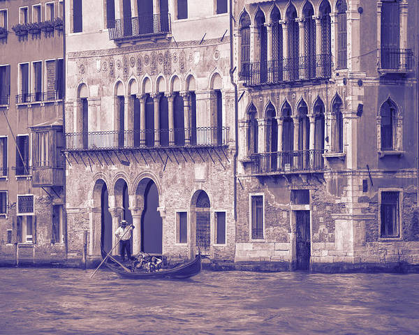 Grand Canal Poster featuring the photograph Grand Canal 2. Venice Italy by George Robinson