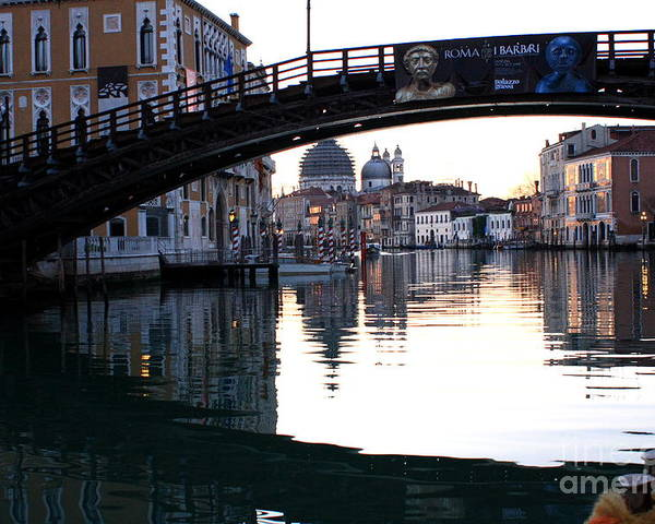 Venice Poster featuring the photograph Grand Canal In Venice At Sunrise by Michael Henderson