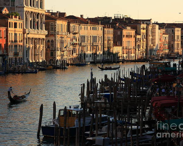 Venice Poster featuring the photograph Grand Canal In Venice From The Rialto Bridge by Michael Henderson