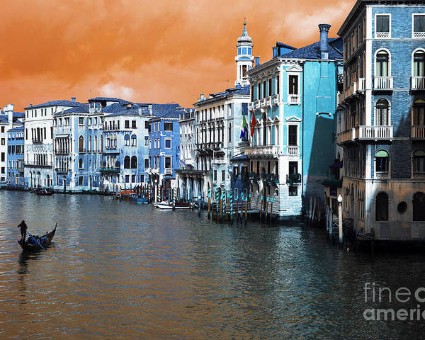 Grand Canal Pop Art Poster featuring the photograph Grand Canal Pop Art by John Rizzuto