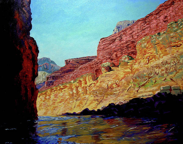 Original Oil On Canvas Poster featuring the painting Grand Canyon III by Stan Hamilton