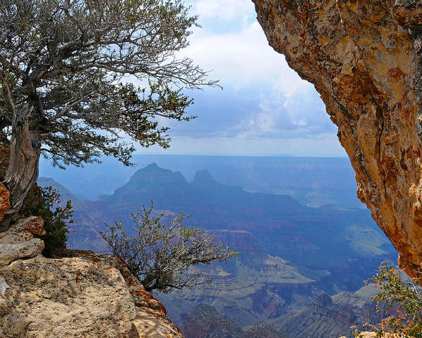 Grand Canyon North Rim Poster featuring the photograph Grand Canyon North Rim Window in the Rock by Victoria Oldham