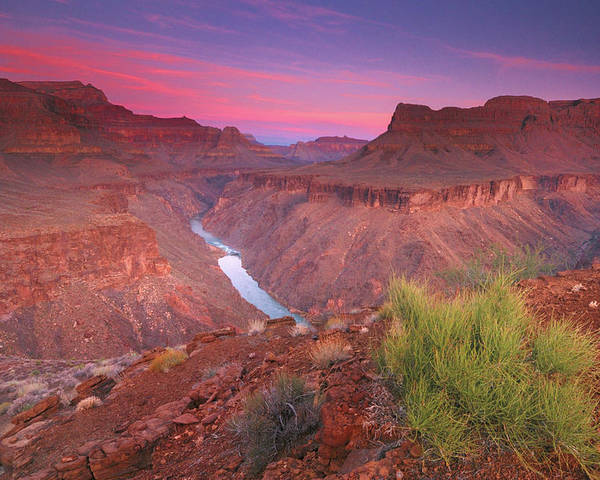 Horizontal Poster featuring the photograph Grand Canyon Sunrise by David Kiene