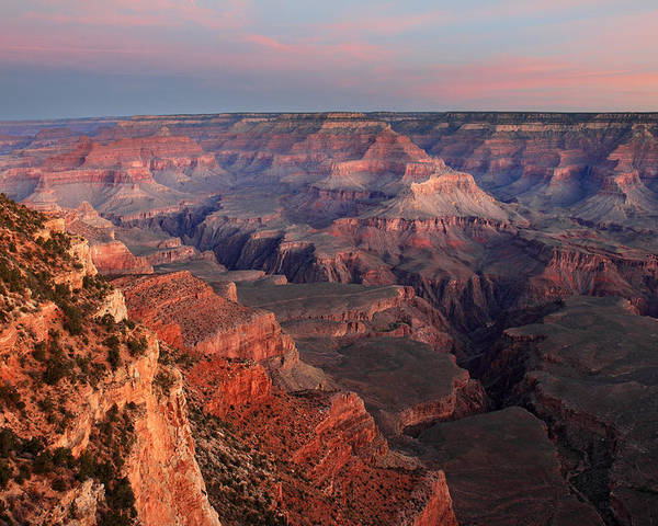Grand Canyon Poster featuring the photograph Grand Canyon Sunrise by Pierre Leclerc Photography